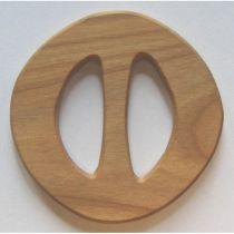 Skärpspänne, oval, liten