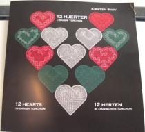 12 Hjerter i dansk torchon.