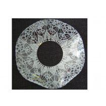 Glasmanschett, mönstrad, vågig